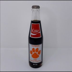 Other - 1981 National Champions Clemson Tigers Coke bottle